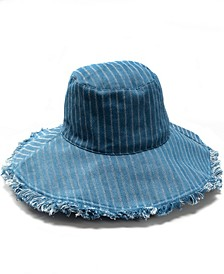 INC Oversized Bucket Hat with Fray, Created for Macy's
