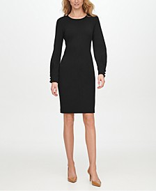 Slit-Sleeve Sheath Dress