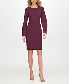Slit-Sleeve Sheath Dress