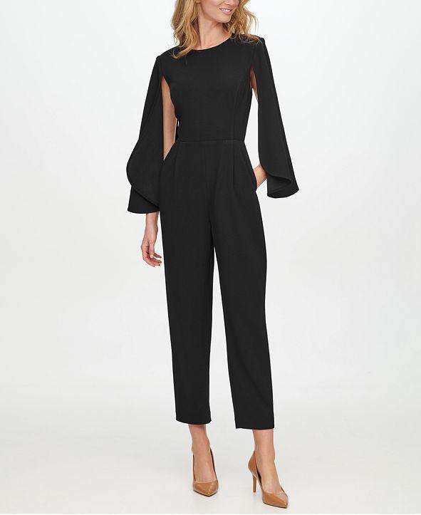 Calvin Klein Cape-Sleeve Jumpsuit