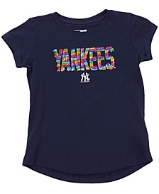 New Era Youth Girls New York Yankees Flip Sequin T-Shirt