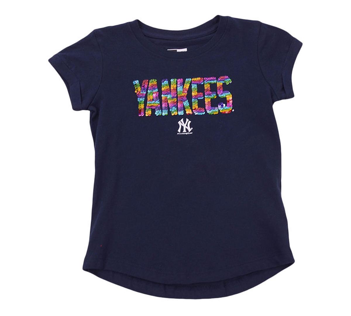 New Era Youth Girls New York Yankees Flip Sequin T-Shirt