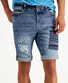 "Men's Nostrad Patched Denim 10"" Shorts, Created for Macy's"
