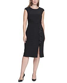 Plus Size Ruffled Midi Dress