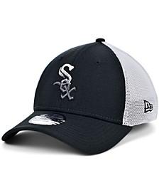 Men's Chicago White Sox Black White Gradient Trucker 39THIRTY Cap
