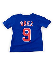 Toddler Chicago Cubs Name and Number Player T-Shirt Javier Baez