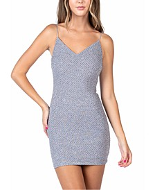 Juniors' Glitter Sheath Dress