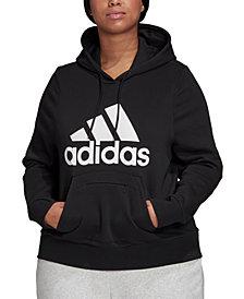adidas Plus Size Logo Hooded Sweatshirt