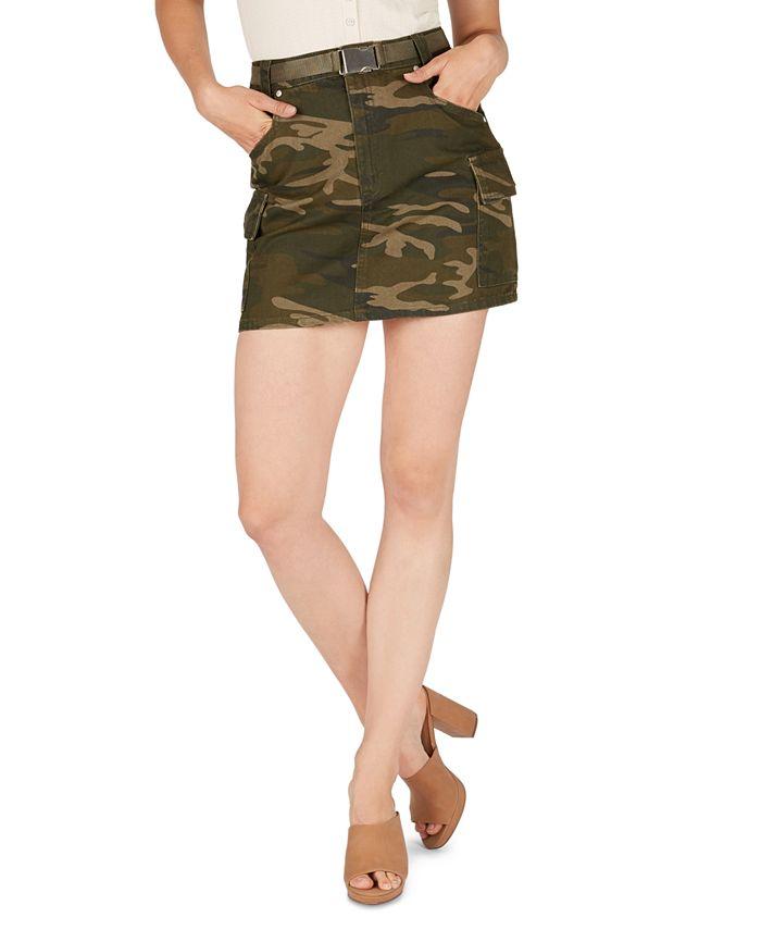 Numero - Cotton Camo-Print Cargo Skirt