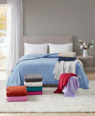 Soft Fleece Blankets, Created for Macy's