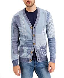 Men's Regular-Fit Patchwork Cardigan