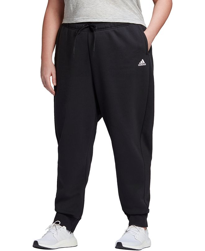 adidas Plus Size Logo Fleece Jogger Pants
