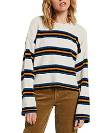 Juniors' Bubble Tea Striped Sweater