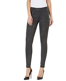 Mid-Rise Animal-Print Skinny Ankle Jeans
