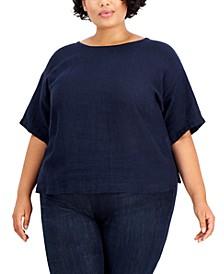 Plus Size Organic Linen Top
