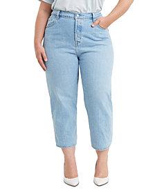 Levi's® Trendy Plus Size 501 Cropped Straight-Leg Jeans