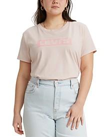 Trendy Plus Size Cotton Perfect Logo T-Shirt