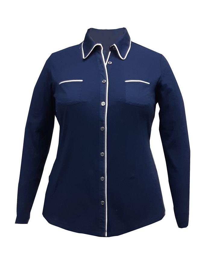 Karen Scott - Plus Size Cotton Knit Shirt