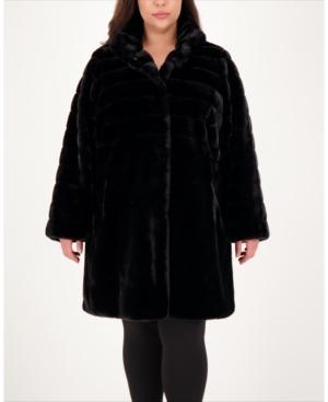 Plus Size Faux-Fur Coat