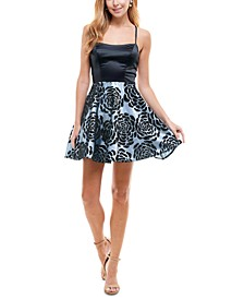 Juniors' Strappy-Back Fit & Flare Dress