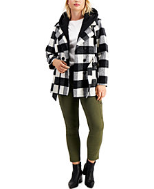 Jou Jou Juniors' Trendy Plus Size Double-Breasted Belted Coat