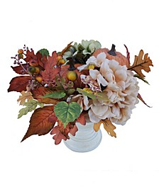 Martha Stewart Harvest Pumpkins and Flowers Arrangement, Created for Macy's