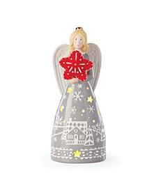 Festive Folk Light-Up Angel Figurine