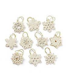 Snowflake 10-Piece Ornament Set