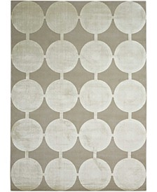 "Luminance LUM02 Silver 5'3"" x 7'5"" Area Rug"
