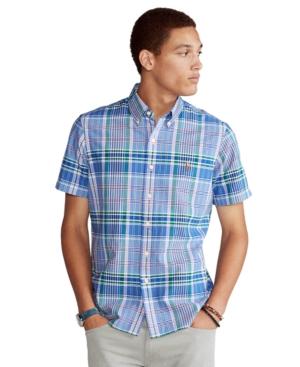 Polo Ralph Lauren Men's Classic-Fit Plaid Oxford Shirt