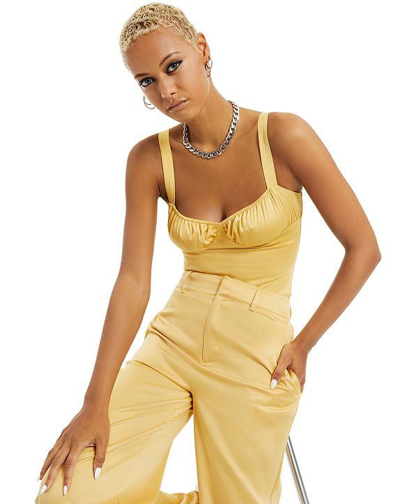 Danielle Bernstein Satin Bodysuit, Created for Macy's