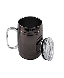 20 Oz Black Classic Barrel Beer Mug