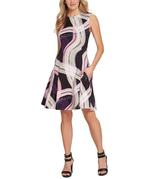 DKNY Sleeveless Fit & Flare Dress