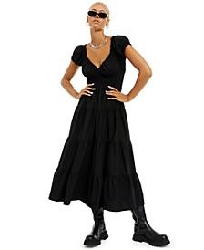 Solid Poplin Midi Dress, Created for Macy's