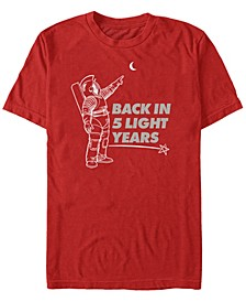 Men's Back in 5 Light Years Short Sleeve T-Shirt