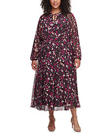 Tommy Hilfiger Plus Size Carine Floral Midi Dress