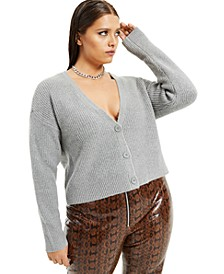Plus Size Button-Front Cardigan, Created for Macy's
