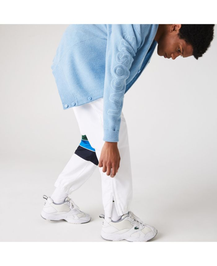 Lacoste Men's SPORT Diamond-Weave Performance Track Pants with Tricolor Stripes & Reviews - Pants - Men - Macy's
