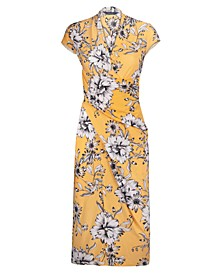 Brett Floral-Print Midi Wrap Dress