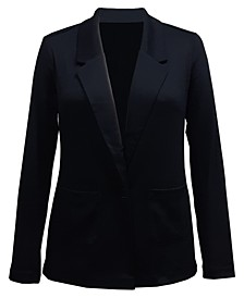 Petite Notched-Lapel Blazer, Created For Macy's