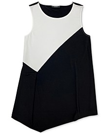 Printed-Front Asymmetrical Tank Top, Created for Macy's