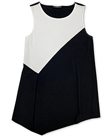 Alfani Printed-Front Asymmetrical Tank Top, Created for Macy's