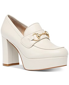 Women's Cinderella Horse-Bit Platform Loafers