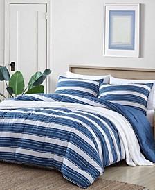 Vintage Crew Stripe Comforter Set, Full/Queen