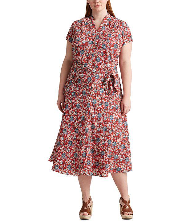 Lauren Ralph Lauren Plus Size Floral Midi Dress