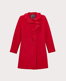 Big Girls Ruffle Dress Coat