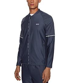 BOSS Men's Sariq Zip-Through Logo Sweatshirt