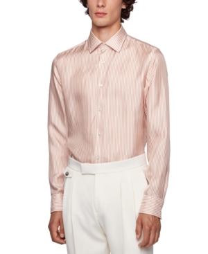 Boss Men's Jango Slim-Fit Stripe Shirt