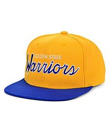 Golden State Warriors HWC Heritage Script Snapback Cap
