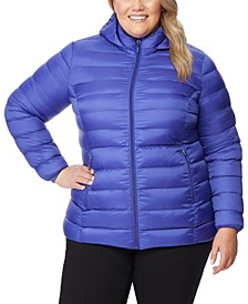 Plus Size Hooded Packable Water-Resistant Puffer Coat, Created for Macy's